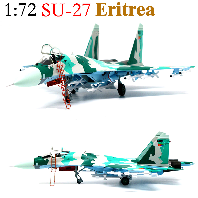 Fine  Super Value  1:72  Russian Su27 Fighter  Eritrean Air Force  Finished Alloy Model  Collection Model