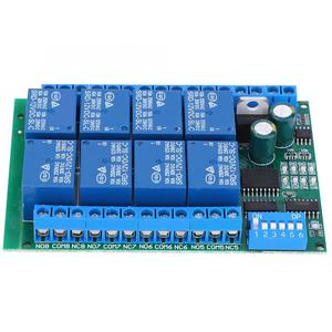 Image 2 - RS485 DC 12V 8 Kanal Relais Verzögerung Bord Befehl Programmierbare Steuerung Relais Modul hohe qualität
