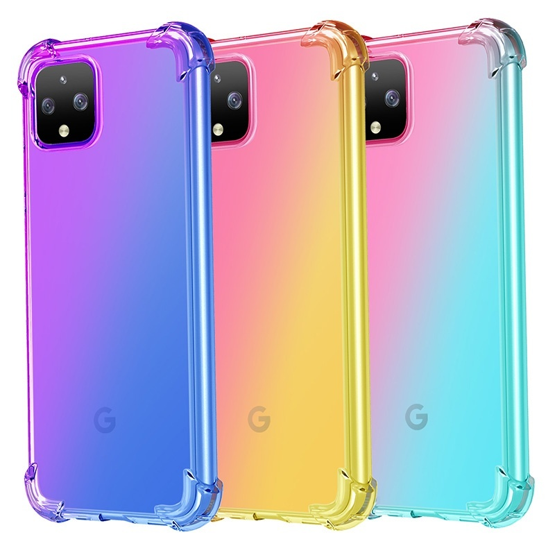 Colorful Soft TPU Rubber Phone Case For Google Pixel 4 XL Pixel4 Strong Protection Anti-Knock Cover