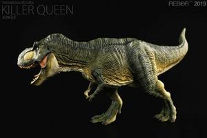 Image 2 - REBOR 1/35 Paleontologia Tyrannosaurus Rex T Rex Killer Queen Dinosauro Modello Animale Giocattolo Decorazione