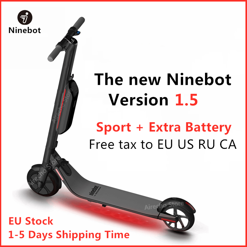2019 New Version 1.5 Ninebot e scooter ES4 / ES2 Smart Electric Kick Scooter Foldable Lightweight Hoverboard With APP EU Stock