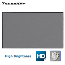 1.6m x 2.5m Projector Screen Reflective Fabric Cloth Projection Curtain for Low Lumen Projectors Brightness Improved Highly