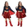 Хэллоуин Новый костюм детей ясельного возраста, для девочек и женщин, накидка с героями мультфильма «супердевочка Косплей праздник Пурим, с...