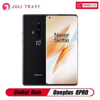 Купить Глобальная ROM Oneplus 8 pro 5G Snapdragon 865 8 Гб 128 ГБ 6,78 дюйм120 Гц жидкий экран 30 Вт Беспроводная зарядка 4510 мАч смартфон