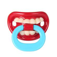 1Pcs Food Grade Silicone Funny Buckteeth Big Mouth Dummy Nipple Teat Baby Pacifier Orthodontic Soother Teat Baby Teether Toy(China)