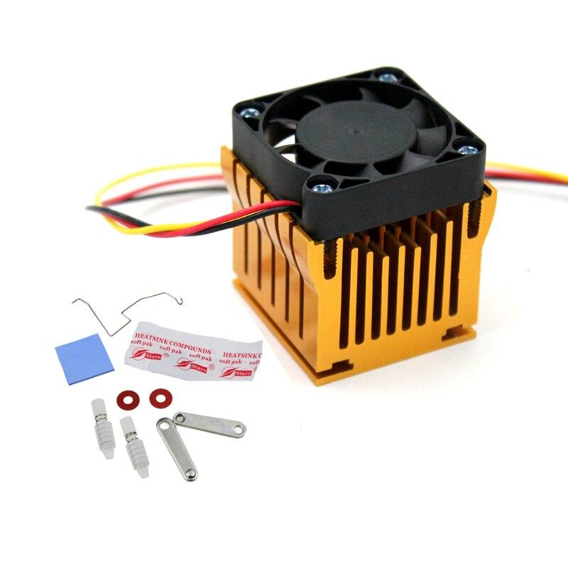 Купить с кэшбэком DIY Aluminium Northbridge Heatsink Cooler Motherboard Radiator w/4cm Fan For PC Computer Case South North Bridge Chipset Cooling