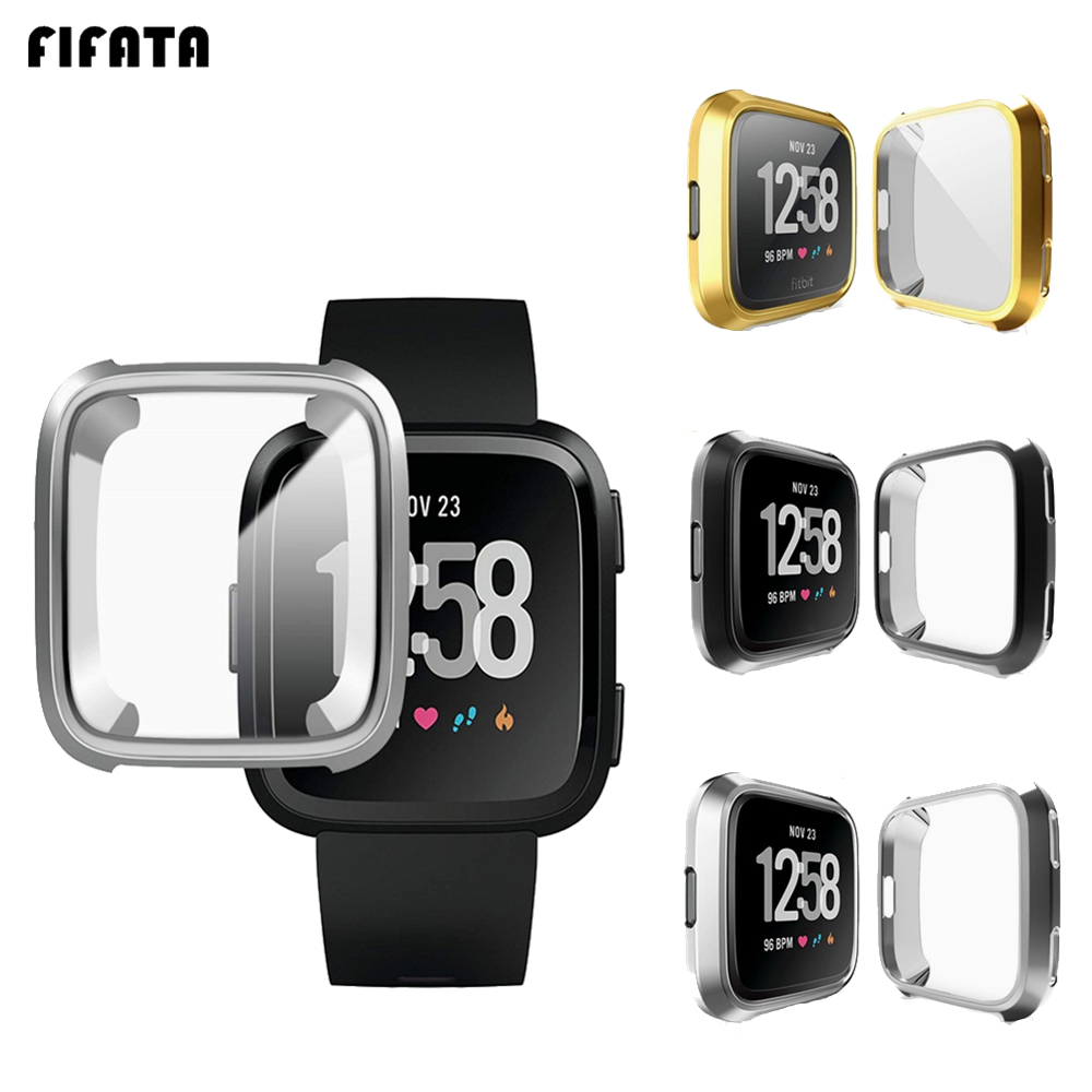 Smart Accessories For Fitbit Versa Band Case Cover TPU Protective Shell For Fit Bit Versa Lite Protector Frame Protector Sleeve