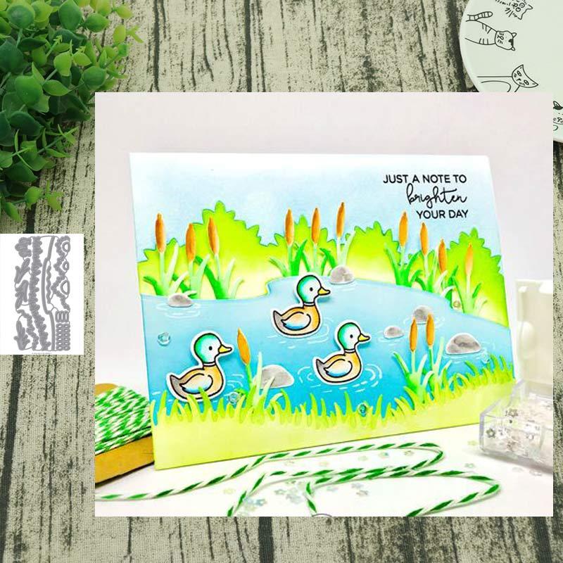 Metal Cutting Dies Grassy River Die Cut Scrapbooking Paper Craft Handmade Card Punch Art Cutter Decorative Stencil