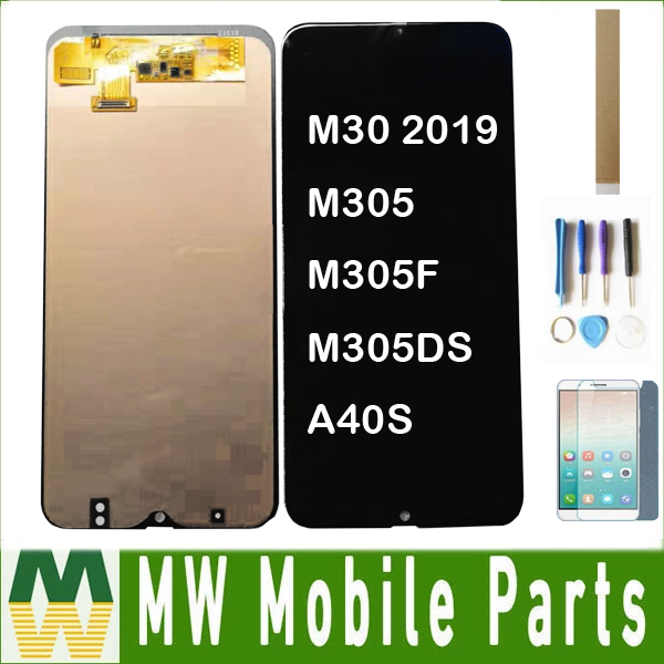 For Incell For <font><b>Samsung</b></font> Galaxy M30 2019 M30 M305 M305F M305DS <font><b>A40s</b></font> <font><b>LCD</b></font> Display+Touch Screen Digitizer Assembly Black With Kits image