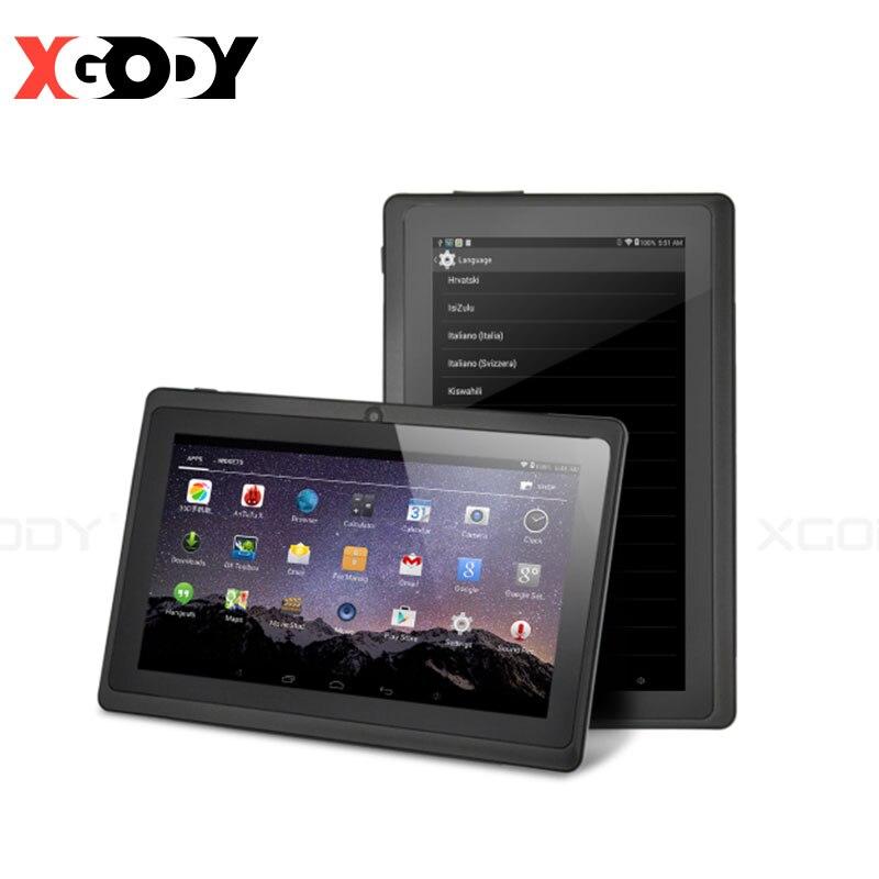 7-дюймовый Обучающий планшет для детей Android 8,1 Quad-Core 1 Гб оперативной памяти, 16 Гб встроенной памяти, планшет без кожаного чехла чехол самый лу...
