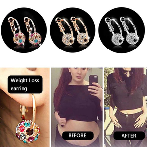 1/2/3Pairs Slimming Earrings Lose Weight Body Relaxation Massage Women Girls Anti Cellulite Ear Studs Luxury Plated Jewelry