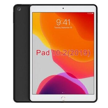 Negro mate antideslizante suave TPU de silicona transparente funda transparente para 2019 nuevo iPad 10,2