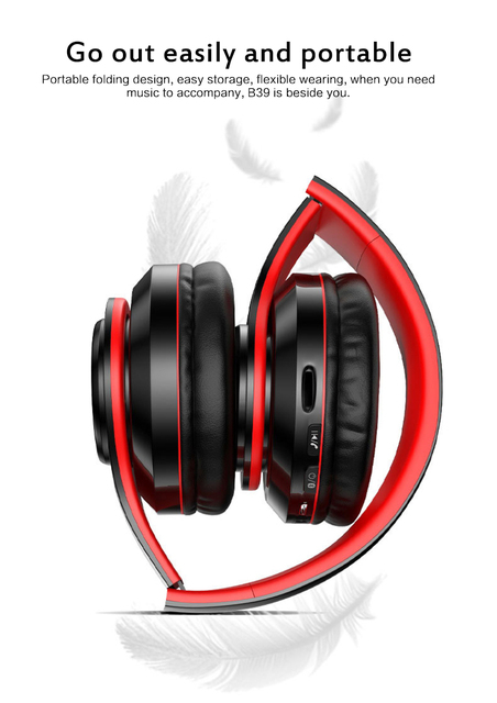 Fast Shipping Portable Bluetooth Wireless Headphones Stereo Foldable Headset Audio Mp3 Adjustable Earphones With Mic For Music 1