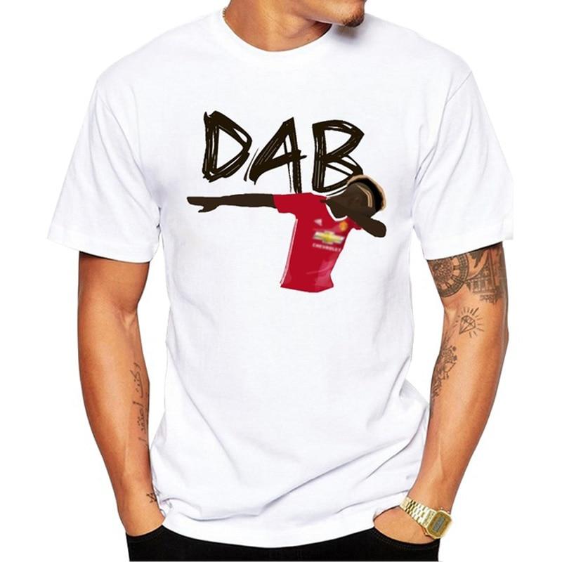 2018 New Fashion Pogba Dab Men T-shirt Short Sleeve Casual Tee Shirts Funny Printed Cool Tops