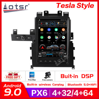 Android9.0 64+4GB RAM Tesla style PX6 Car GPS Navig For Nissan GT-R 2012-2018 Headunit Multimedia Player Radio Tape Recorder DSP