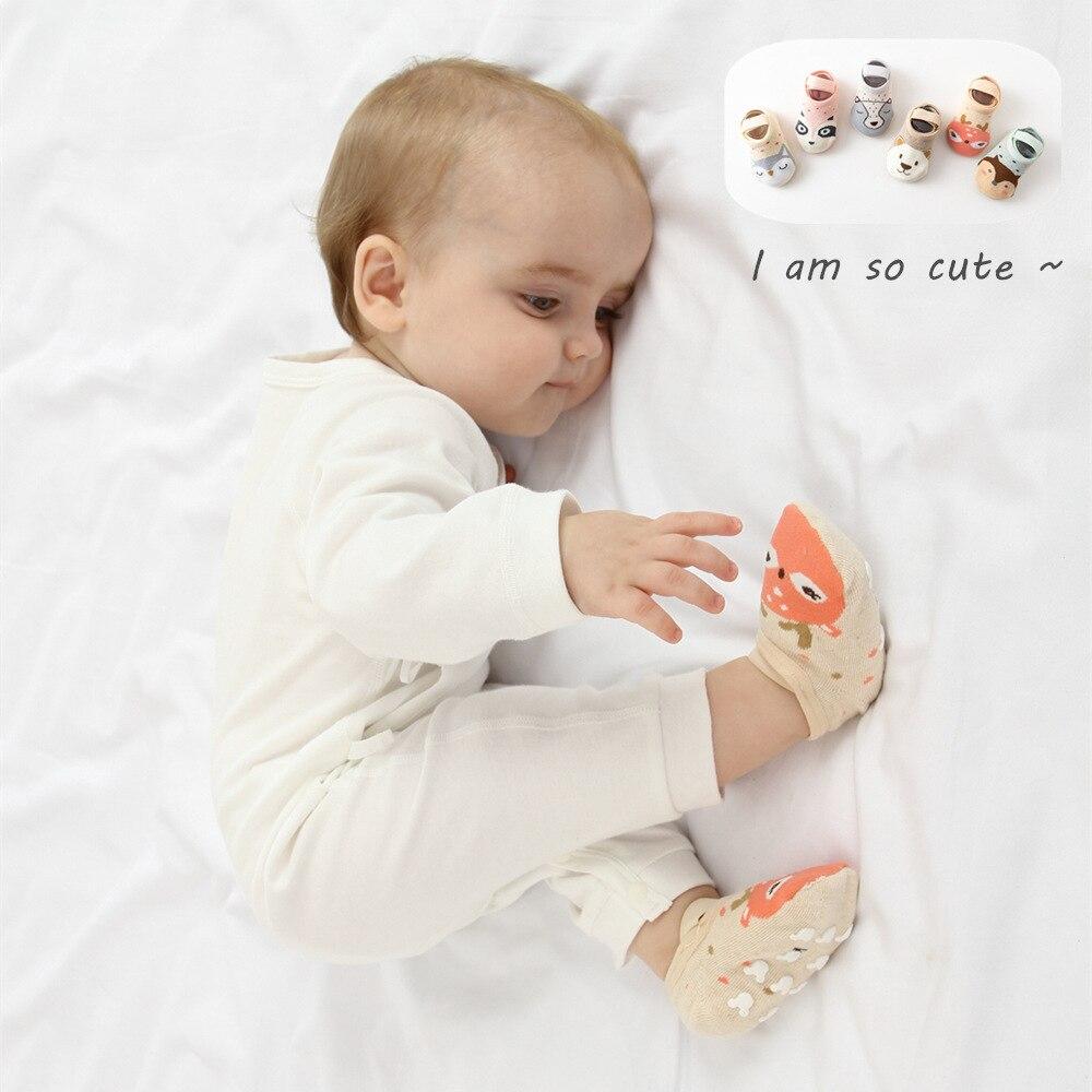 V-TREE Baby Boy Girl Socks Cotton Floor Socks Cartoon Infant Baby Children Animal Socks Spring Autumn Floor Toddler Socks