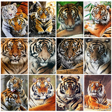 Huacan Diamond Embroidery Sale Tiger Kits 5D DIY Diamond Painting Full Animal Pictures Of Rhinestones Decor For Home