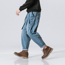 Streetwear Denim Pants Men Joggers Sweatpants Cargo Pants Men 5XL Trousers Men Pants Hip Hop Jogger 2019