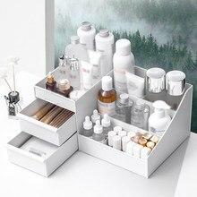 Gaveta-tipo caixa de armazenamento de maquiagem dormitório acabamento cuidados com a pele organizador de maquiagem desktop penteadeira caixa de armazenamento rack de armazenamento