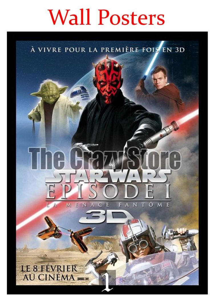 Star Wars Episode I The Phantom Menace Film White Kraft Paper Poster Home Decor Painting classic prints 42X30cm in Wall Stickers from Home Garden