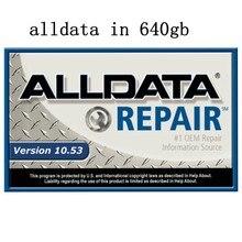2020 alldata reparação automóvel alldata software de reparo 10.53v todo o software do carro de dados com suporte técnico para carros e caminhões em 640gb hdd