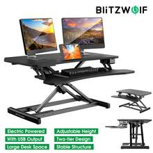 Desk-Table-Stand Laptop-Table Height-Adjustable Electric Large Blitzwolf Lifting