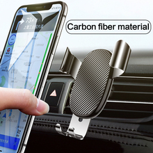 Gravity Car Phone Holder Air Vent Mount For Phone Universal Mobile Support For iPhone X 11 Pro Smartphone 360 Mount Stand in Car usams cd47 creative 2 in 1 wireless charging gravity car air vent mount for smartphone