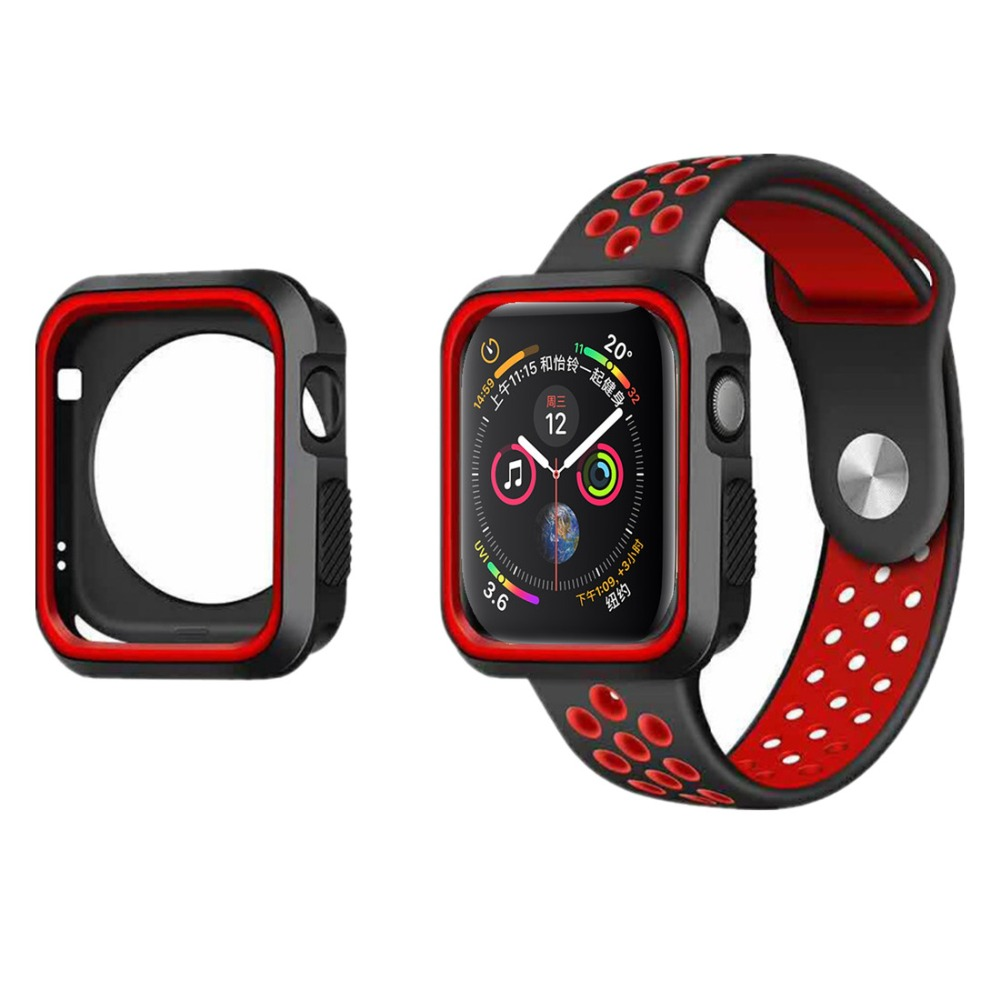 For Apple Watch Case 44mm 40mm Apple Watch 4 3 5 2 Cover Iwatch 42mm 38mm Frame Bumper Silicone Protector Shell Accessories