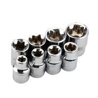 HOT 8Pcs 3/8 Inch Torx Star Socket Set E Type E8 E10 E11 E12 E14 E16 E18 E20 Hand Repair Tools Wrench     -