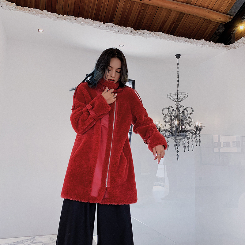 Real Fur Coat Women Sheep Shearing Winter Coat Women Korean Wool Jacket Womens Clothing Abrigos Mujer Invierno 2020 Z183 YY1051