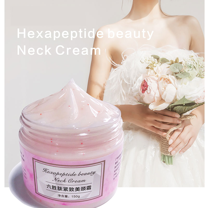 150g Six Peptides Anti Wrinkles Neck Cream Whitening Lifting Mask Firming For Neckline Skin Care Delicate And Slippery W1