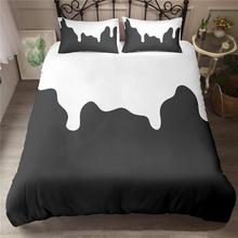 Black White Piano Bedding Set Luxury Duvet Cover