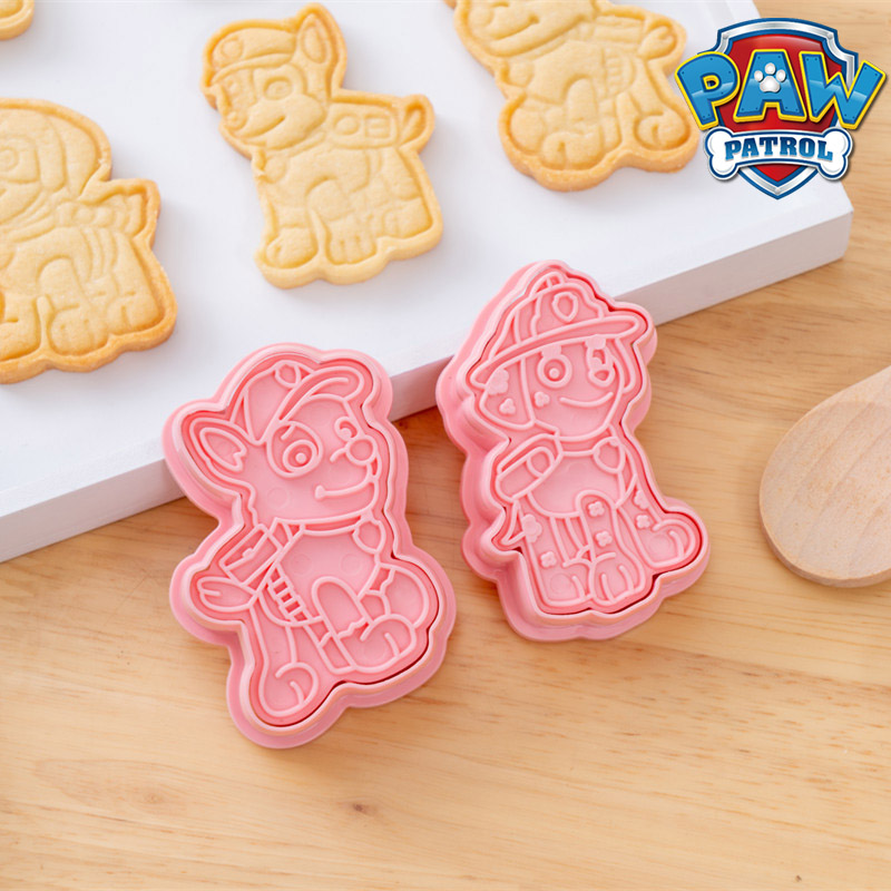 6Pcs Set Paw Patrol Cartoon DIY Christmas Cookie Cutters Tools 3d Cookie Mold Patrulla Canina Cute Press Type Baking Mold