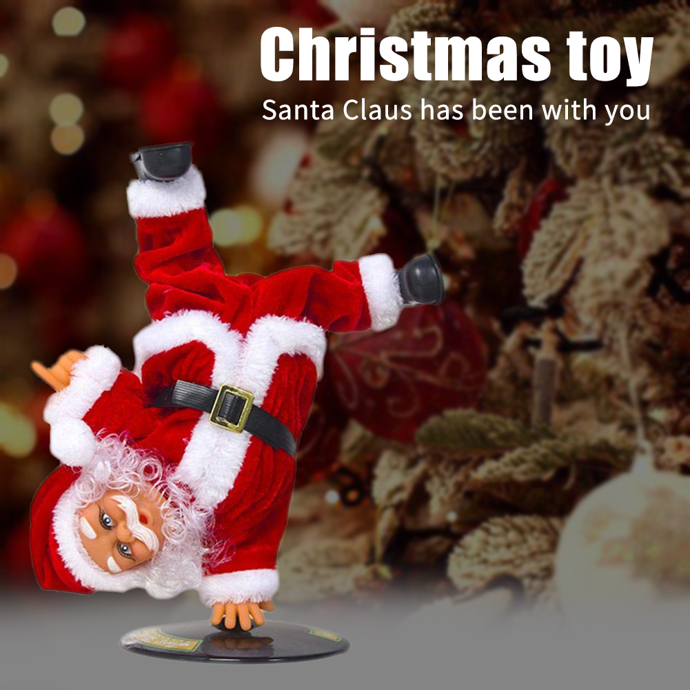 Street Dance Doll Cute Figure Desk Gift Inverted Christmas Toy Electric Home Music Decoration Festival Children Santa Claus