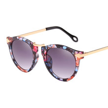 Xaybzc óculos de sol feminino tipo olho de gato, óculos de sol para mulheres, de marca de luxo, vintage, com flores