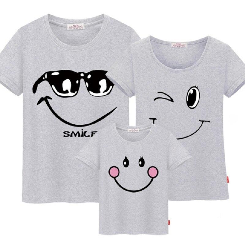66001 famille correspondant vêtements mère fille robes tenues coton décontracté T-shirts famille Look coton
