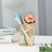 Nordic minimalist noble wrought iron storage basket makeup brush pen holder