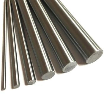 Two 304 stainless steel rods 5mm linear axis metric round ground 500mm