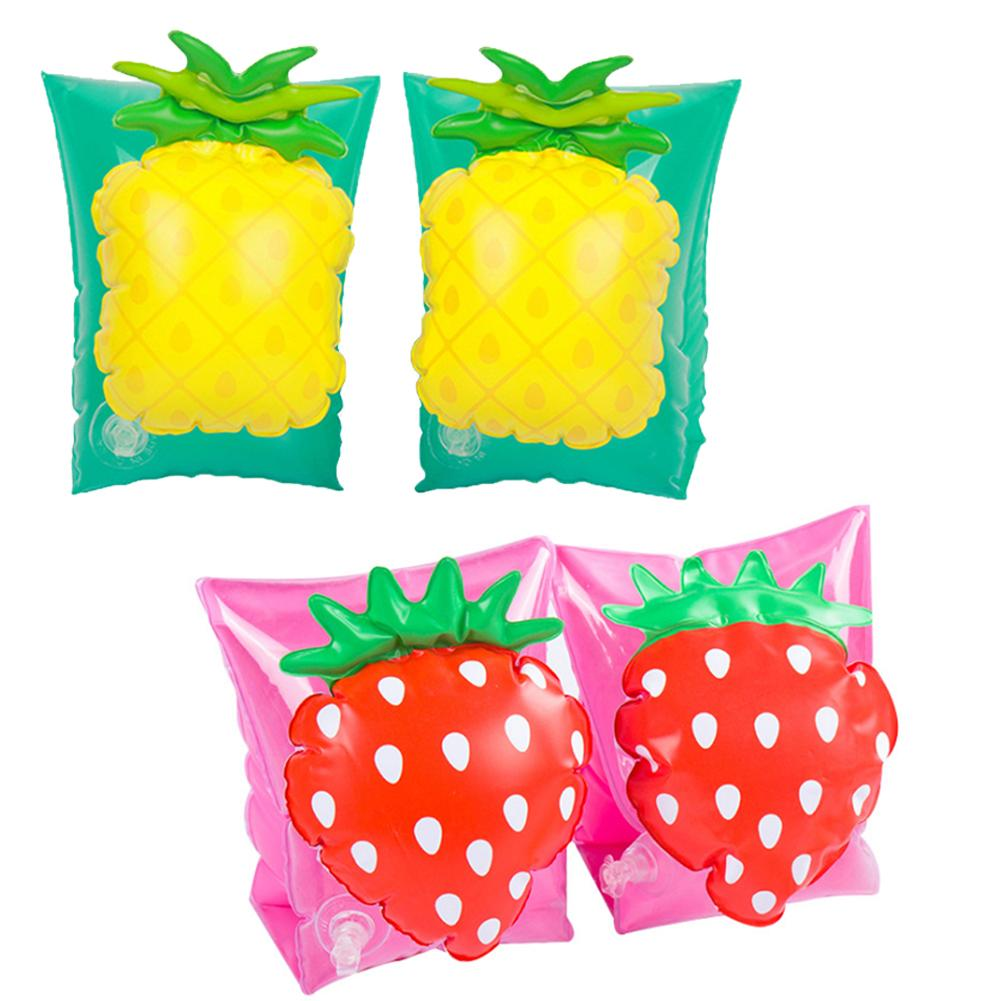 Swimming Ring Children's Summer Seaside Beach Pool Floating Board Swimming Arm Circle Strawberry Pineapple Style For Children