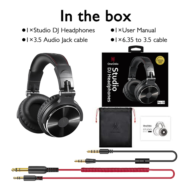 Oneodio Over Ear Headphones Hifi Studio DJ Headphone Wired Monitor Music Gaming Headset Earphone For Phone Computer PC With Mic 6