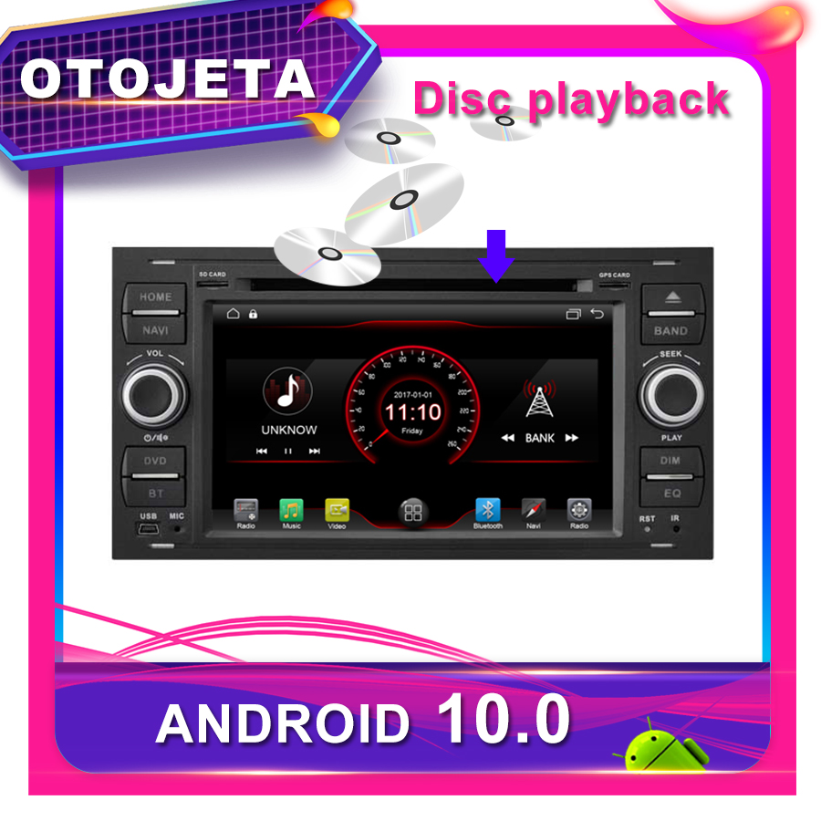 OTOJETA Car DVD Android 10.0 Car <font><b>GPS</b></font> for <font><b>FORD</b></font> <font><b>FOCUS</b></font> <font><b>2005</b></font> 2006-2011 7inch Car Radio Multimedia tape recorder bluetooth navigation image