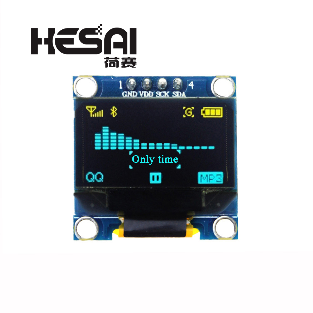 0.96 Inch 128X64 OLED Yellow Blue/Blue/White Display Module 0.96 IIC Communicate For Arduino DIY Kit