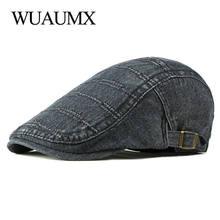 Wuaumx унисекс весна лето береты шапка для мужчин и женщин Потертая
