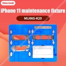 Mijing k29 mj iphone 11 plataforma de reparo fixação placa-mãe estratificação estanho plantio disco rígido ic degumming magnético