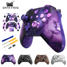 Data Frog Full Housing Shell For Xbox One S Hydro Dipped Replacement Case With Buttons Kit For Xbox one slim wireless Controller
