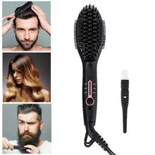 Ionic Beard Straightener Comb For Men Upgrade Quick Styler Electric Straightening Brush Women