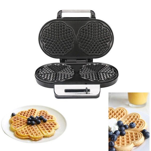 Double Waffle Machine Sandwich Machine Non-Stick Coated Plate Breakfast Sandwich Machine Toaster UK Plug 3
