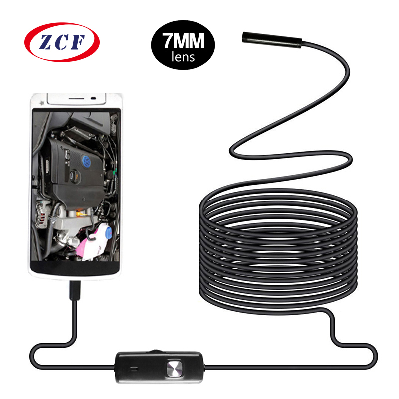 AN97 Android Endoscope 7mm Lens Waterproof 1m/1.5m/2m/3.5m/5m/10m Cable OTG USB Endoscopy Camera Inspection Borescope Endoscope