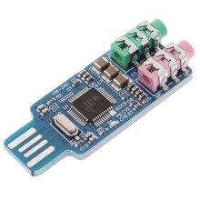 Usb-Sound-Card Cm108 Computer External Chip Free-Drive Original