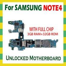 Mở Khóa Mainboard Dành Cho Samsung Galaxy Note 4 N910F N910C N910U N910A N910P N910V N910G N910T Bo Mạch Chủ 32GB Logic Ban android